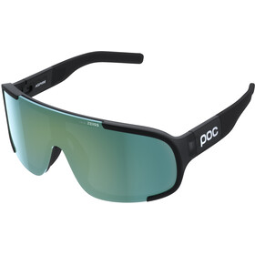 POC Aspire Gafas de sol, uranium black translucent/grey deep green mirror